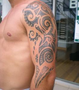 Maori style tribal tattoo