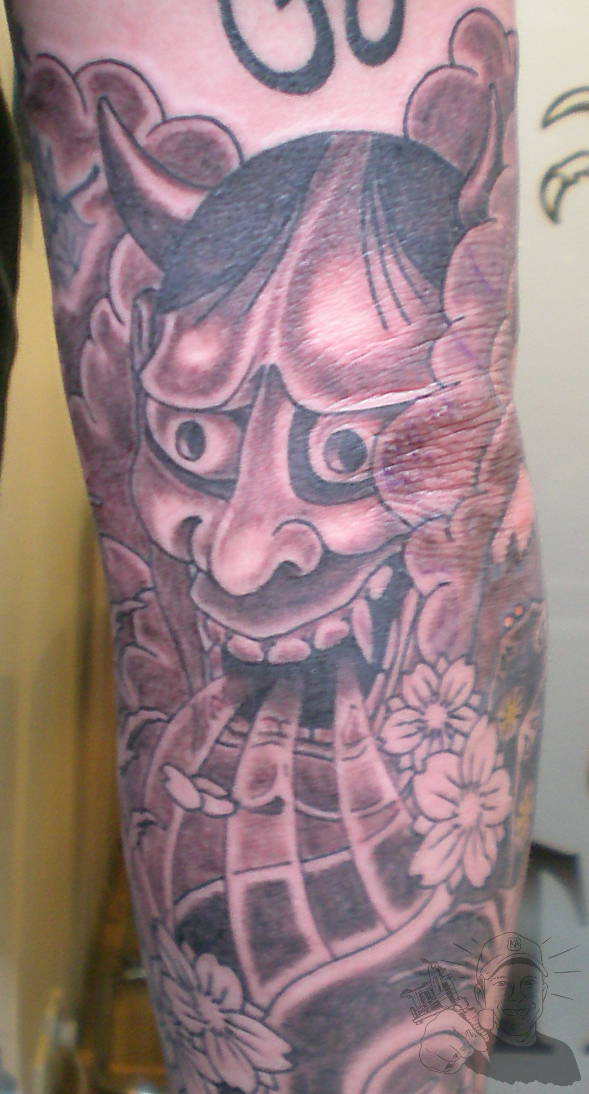 Hanya mask tattoo |