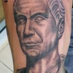 Julius Caesar portrait tattoo