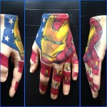 Ironman tattoo on A Pound of Flesh hand