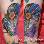 Day of the dead gypsy girl tattoo