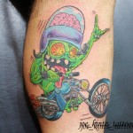 Motorcycle monster tattoo