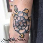 Sailor Jerry turtle tattoo