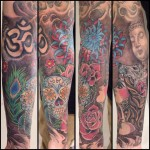 Neotraditional style forearm tattoo