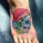Traditional gypsy skull tattoo