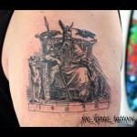 Odin linework tattoo