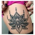 Healed lotus mandala tattoo