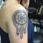 Henna pattern tattoo