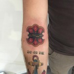 Traditional hinge tattoo