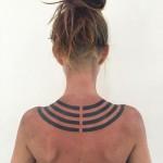 Geometric line tattoo