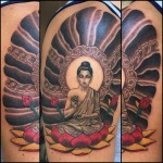 Buddha and lotus tattoo