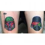 Boba Fett and Darth Vader tattoo