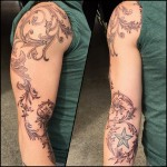 Filigree baroque tattoo