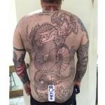 Dragon tattoo in progress