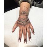 Henna style tattoo