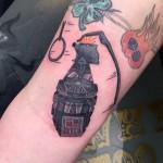Darth Vader hand grenade tattoo