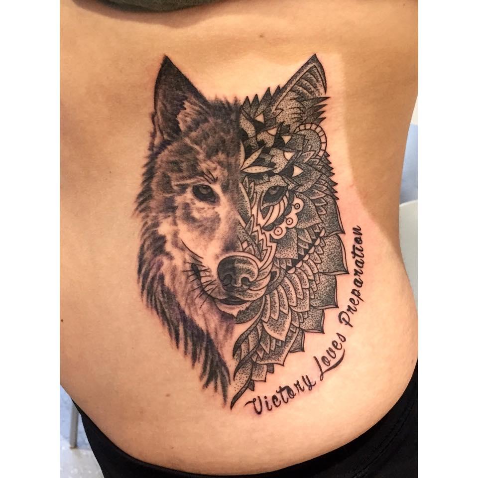Wolf Mandala Tattoo