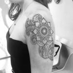 Mandala linework tattoo