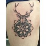 Stag mandala tattoo