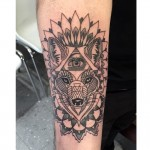 Fox mandala tattoo