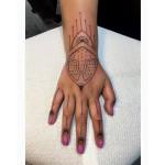 Henna style hand tattoo