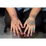 Henna style hand tattoos