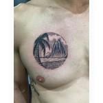 Dotwork palm beach tattoo
