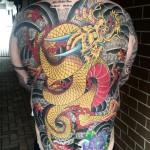 Japanese dragon backpiece tattoo
