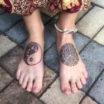 Mandala foot tattoos