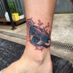 R2D2 tea cup tattoo