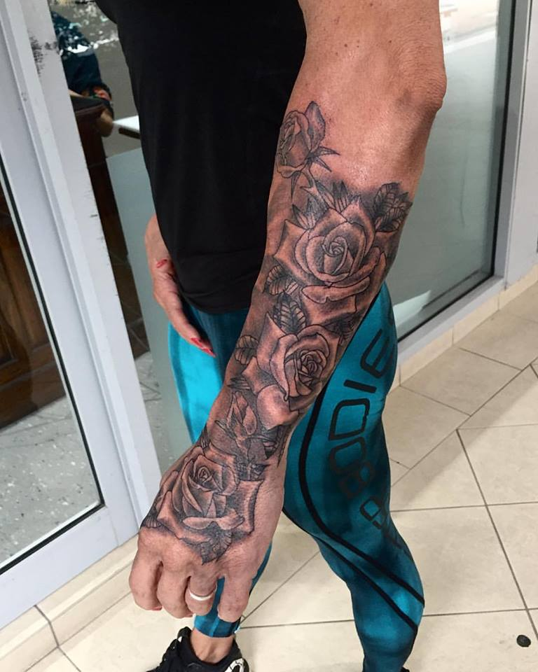 Forearm Rose Tattoos - Tattoo Collections