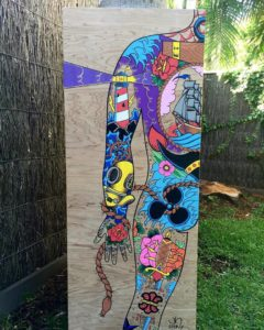 Posca marker painting