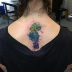 Watercolor seahorse tattoo