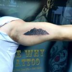 Mountain range tattoo