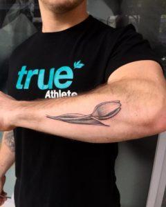 Dotwork tulip tattoo