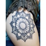 Healed flower mandala tattoo