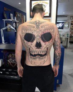 Skull backpiece in progress